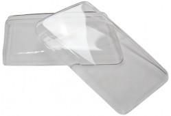 Гладкие стекла фар Audi 80 B4 не моноблок (пара)