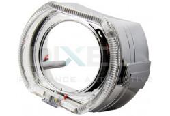 Маска для Линз 2,5 дюйма MINI H1 - С  А/Г. LED - F-Style (Белый) 2-режима - №6