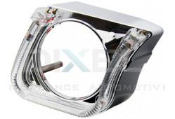 Маска для Линз 2,5 дюйма MINI H1 - С  А/Г. LED - U-Style (Белый) 2-режима - №20 (Правая)