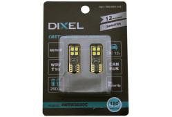 Светодиодная лампа DIXEL (W5W) T10 4 SMD (3030) (одна сторона) Can-Bus (5000К) 12V