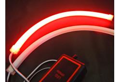 DXL Flexible гибкие светодиодные ленты (8 режимов строб.) - 45 СМ. Красный/Синий 7W