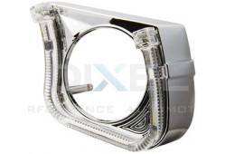 Маска для Линз 2,5 дюйма MINI H1 - С  А/Г. LED - U-Style (Белый) 2-режима - №20 (Левая)